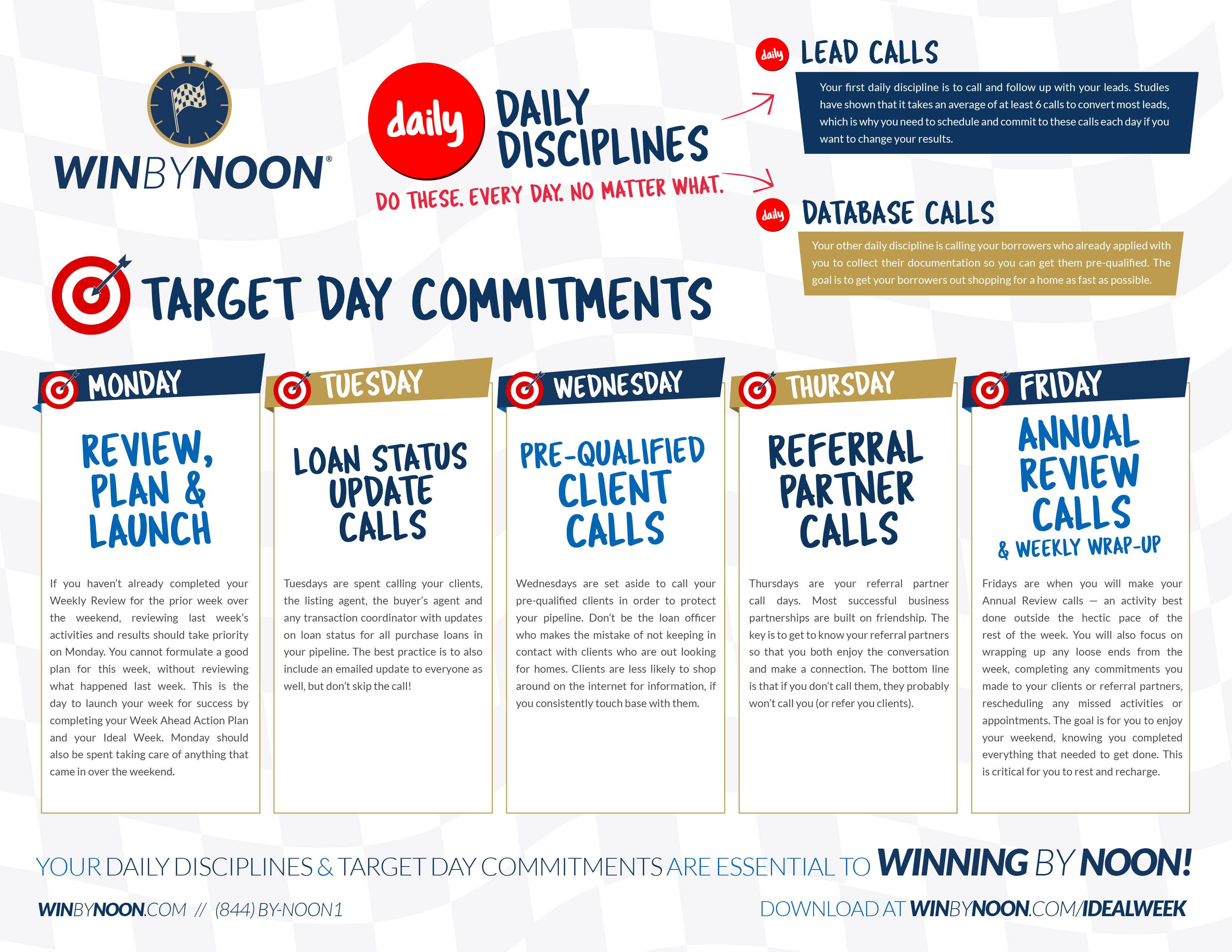 Loan Officer Ideal Week Flyer